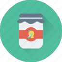 bottle, jam, jam jar, jar icon