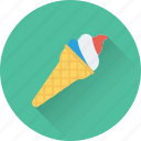 cone, dessert, frozen, ice cone, ice cream icon