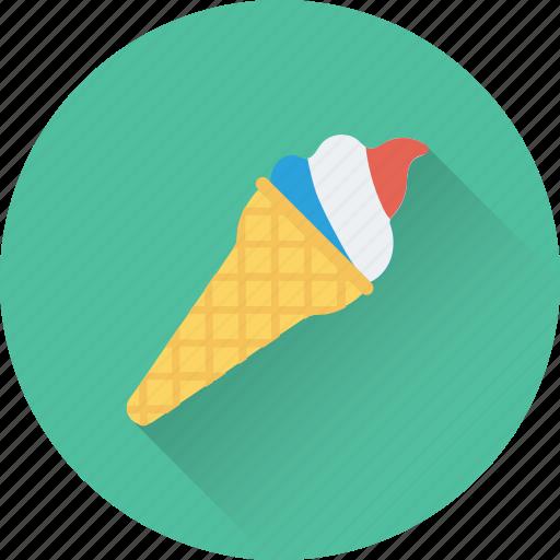 cone, dessert, frozen, ice cone, ice cream icon