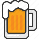 chilled beer, beer, beer mug, alcohol, drink
