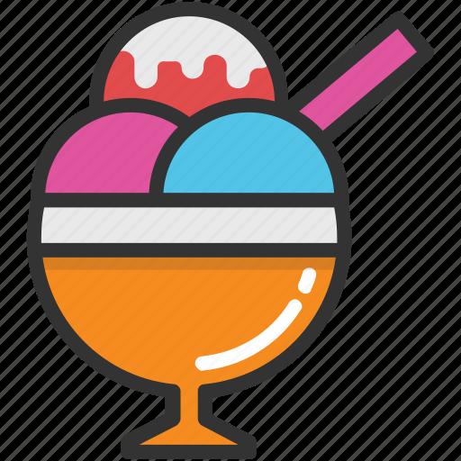 dessert, frozen food, ice cream, ice cream cup, sorbet icon