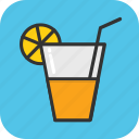cold drink, drink, glass, juice, lemonade icon