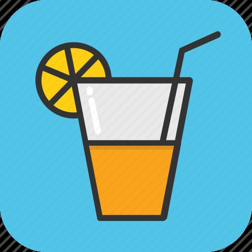 cold drink, drink, glass, juice, lemonade icon