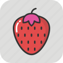 berry, diet, food, fruit, strawberry icon