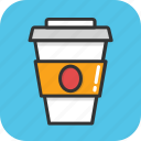 coffee cup, cold coffee, cup, disposable, espresso icon