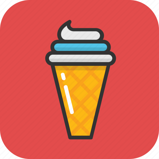 dessert, frozen food, ice cone, ice cream, snow cone icon