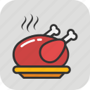 chicken, food, grilled, roast, turkey roast icon