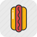 burger, fast food, food, hotdog, junk food icon