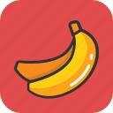 banana, diet, food, fruit, plantains icon