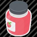 jam jar, marmalade, preserved food, savoury spread, strawberry jam icon