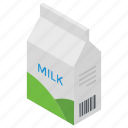 cow milk, milk, milk package, preserved milk, tetra pack icon