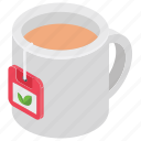 black tea, hot beverage, tea, tea mug, teacup icon