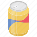 carbonated drink, cola tin, soft drink, sweetened drink, tin pack icon