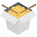 chopsticks, noodles, spaghetti, staple food, vermicelli icon