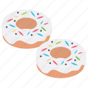 donuts, doughnut, dunkin donut, glazed donut, krispy kreme icon