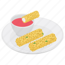 cheese rolls, fried food, fried rolls, snack food, spring rolls icon