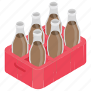 cola crate, drink bottles, drinks tray, soda drink, soft drink