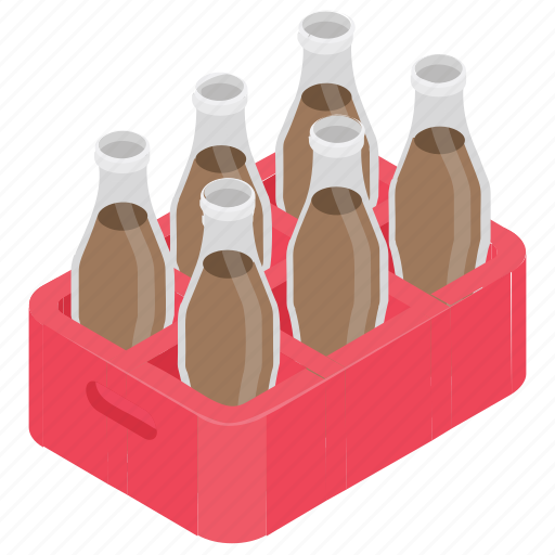 cola crate, drink bottles, drinks tray, soda drink, soft drink icon