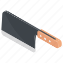 cleaver, kitchen cleaver, kitchen utensil, knife, meat cleaver icon