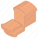 bran bread, bread, bread slices, milk bread, wheat bread icon
