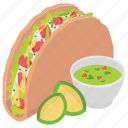food, mexican dish, snack food, tacos, tortilla tacos icon
