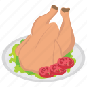 chicken, grilled food, roast chicken, roasted chicken, turkey roast icon