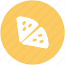 cut pizza, food, italian food, pizza, pizza piece icon