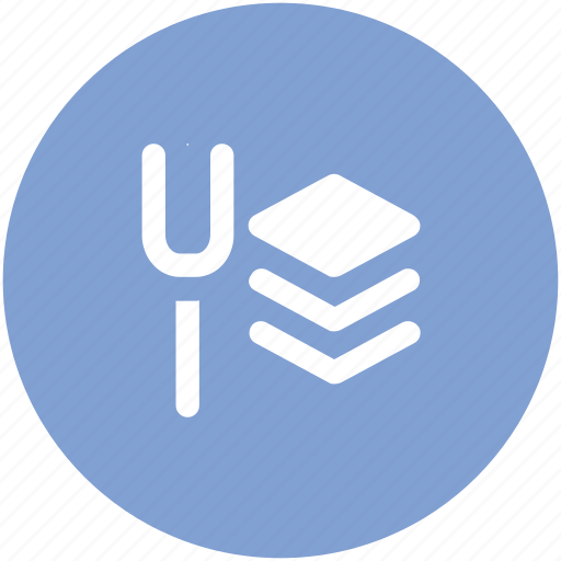 dining, food, fork, fork and slices, lunch, meal icon