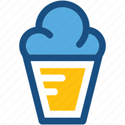 cone, cup cone, ice cone, ice cream, snow cone icon