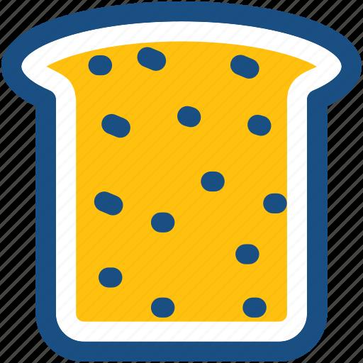 bread, bread slice, bread toast, breakfast, toast icon