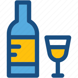 alcohol, beer bottle, wine, wine bottle, wine glass icon