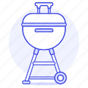 barbecue, bbq, black, cook, food, grill, kettle, meat, picnic, roast icon