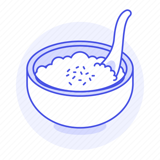 asian, bowl, cuisine, food, of, rice, spoon, steamed icon