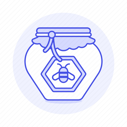 3, bee, container, food, honey, ingredient, pot, sweets icon