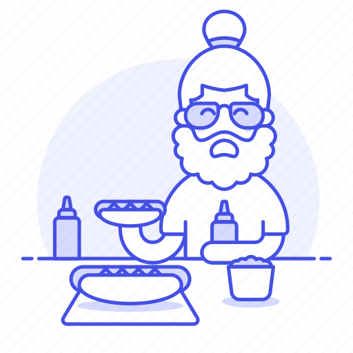 1, dog, eat, eating, fast, fastfood, fat, food, hot, hotdog, junk, male, restaurant, stand icon