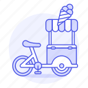 1, bike, cargo, cart, cold, cone, cream, food, ice, sweet icon