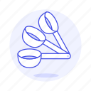 2, baking, cooking, cookware, food, kitchen, kitchenware, measuring, spoon, utensils icon