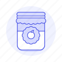 confiture, food, ingredient, jam, jar, marmalade, orange, preserve, sweets icon