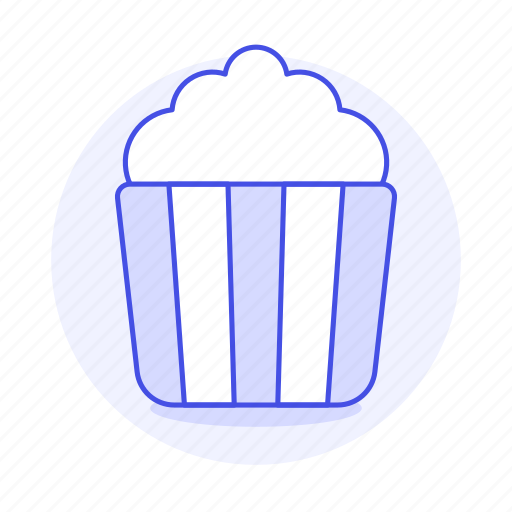 bucket, butter, cinema, fast, fastfood, fat, film, food, junk, movie, popcorn, theater icon
