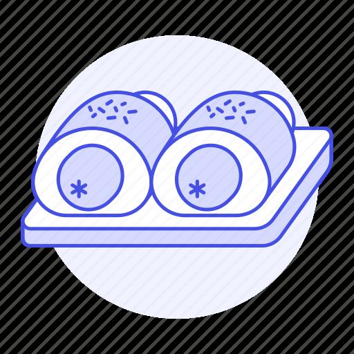 bakery, bread, bun, fast, fastfood, fat, food, junk, roll, sausage icon