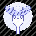 chorizo, fast, fastfood, fat, food, fork, junk, sausage icon