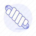 fast, fastfood, fat, food, junk, sausage, wrap icon