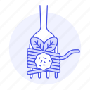 basil, food, fork, italian, meals, meatball, spaghetti icon