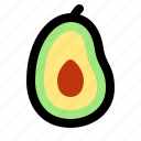 avocado, cooking, food, fruit, healthy, restaurant, vegetable icon
