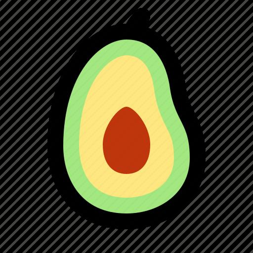avocado, cooking, food, fruit, healthy, restaurant, vegetable icon