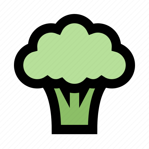 broccoli, diet, fresh, healthy, meal, vegetable, vegetarian icon