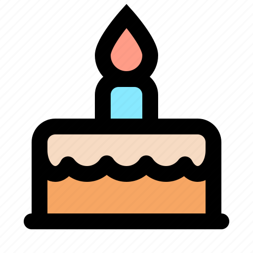 birthday, cake, celebration, cooking, dessert, party, sweet icon