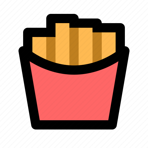 fastfood, food, french, fried, fries, meal, potato icon
