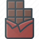 bar, chocolate, eat, food icon