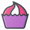 cupcake, eat, food, muffin icon